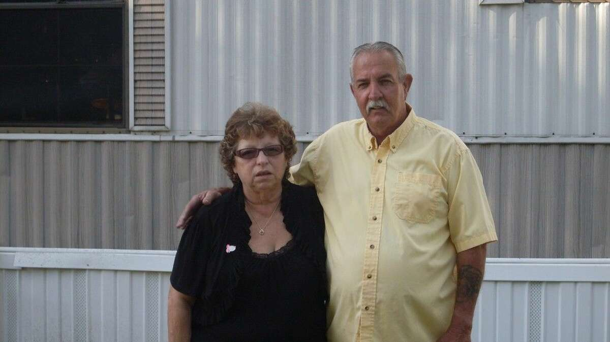 Leslie Davis with her husband, John. She credits him for helping her get through her breast cancer diagnosis.