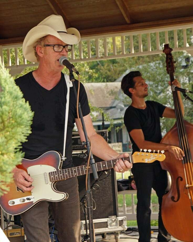 Kevin Geil and Two Tons of Steel performing on the K-Star 99.7FM Stage at the recent Tomball Texas Music Festival. Photo: Submitted