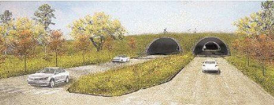 In the proposed land bridge linking Memorial Park's currently separated northern and southern sections, tunnels would enable grounds above them to support more parkland and amenities.