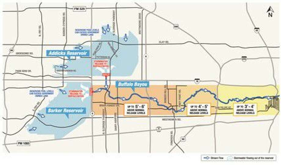 The remaining affected areas of the flood.