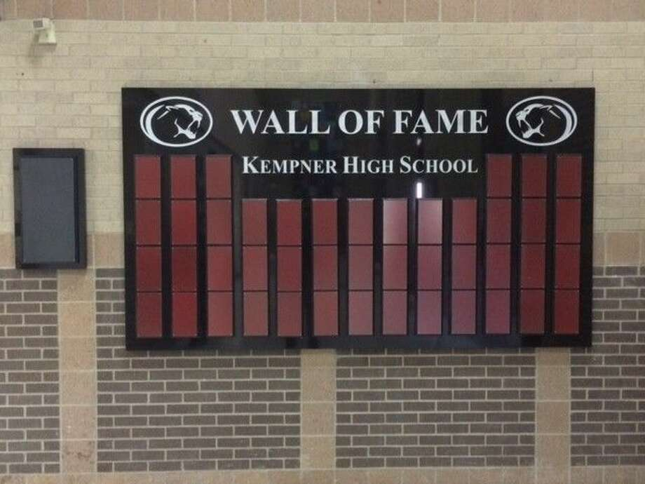 The Kempner High School Wall of Fame.