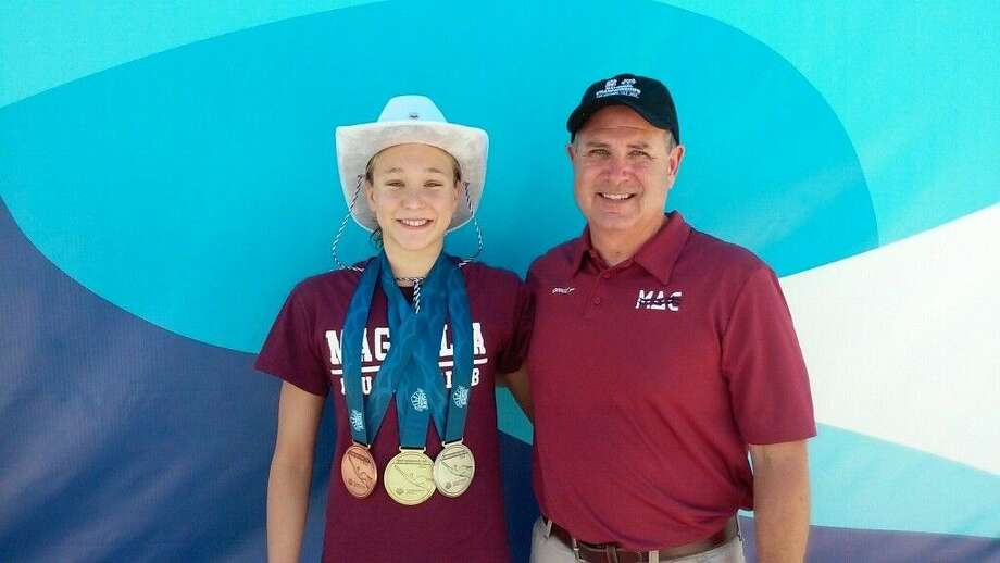 Joy Field and coach Terry Jones. Photo: Submitted