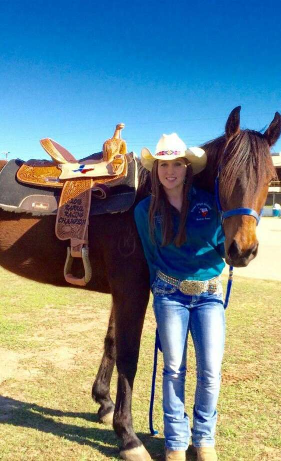 Jessica Lewis with her horse, Wrangler.