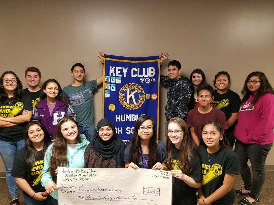 The Humble High School Key Club gathered to celebrate the end of another successful year.