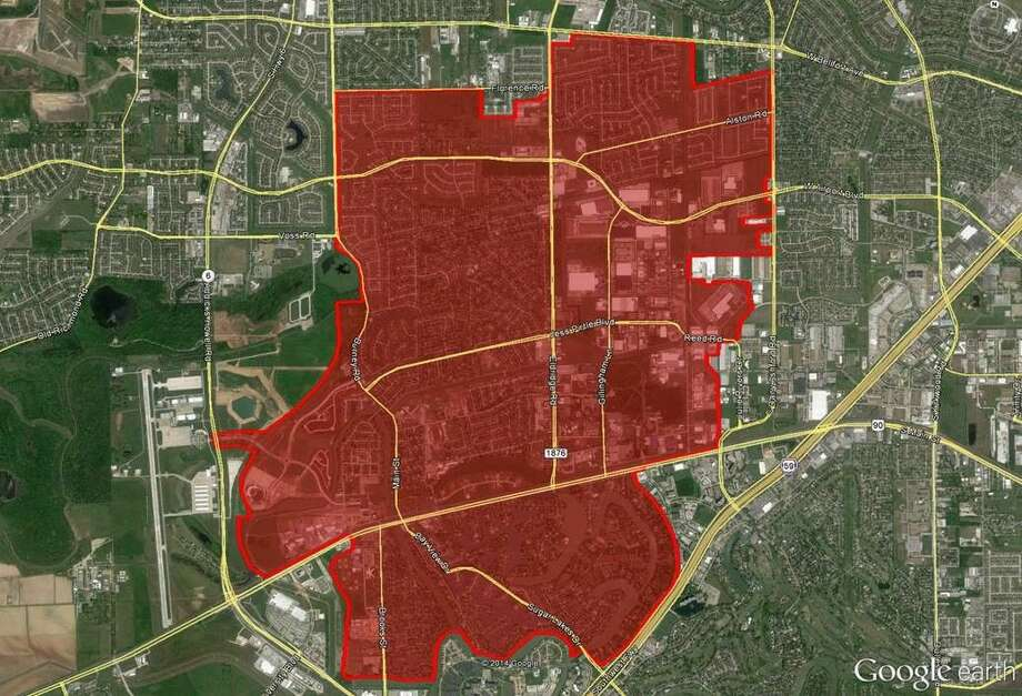 A map showing the range of Sugar Land's upcoming Citywide Crime License Plate Recognition Program. Photo: Submitted
