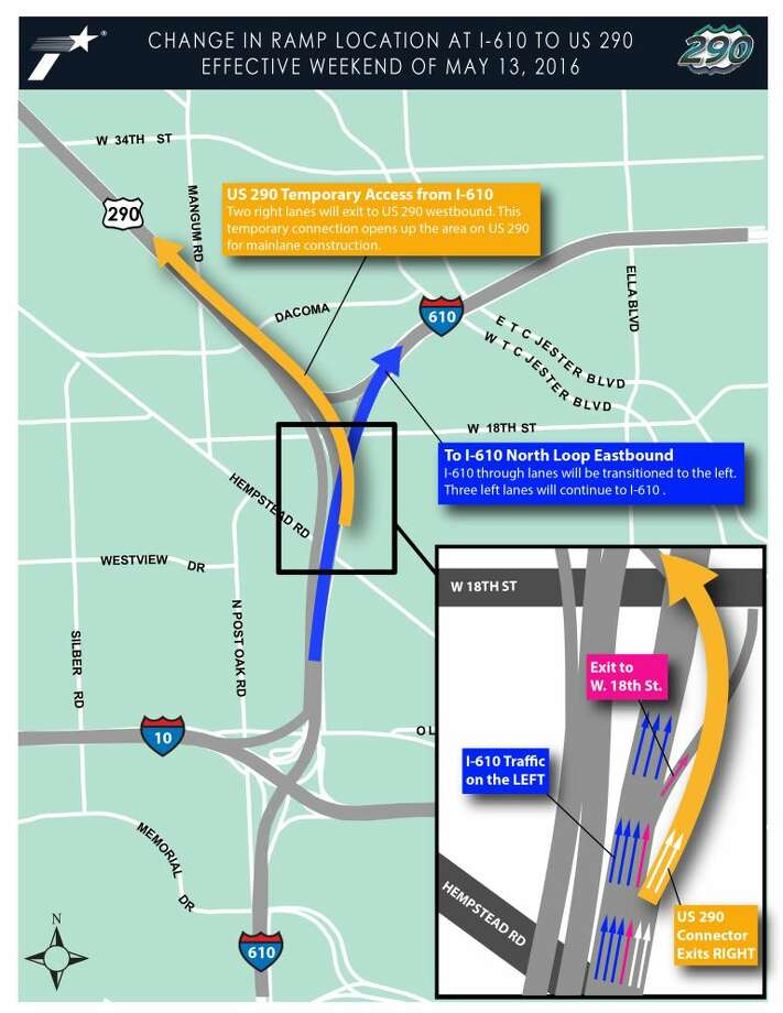 TRAFFIC Changes coming to 610 and 290 interchange Houston Chronicle