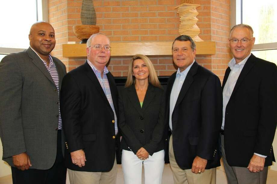 Pictured at the August board retreat for The John Cooper School Board of Trustees, from left, are new board members Bryan Brown, Worthing Jackman and Becky Bayless with Board Chair David Dunlap and Head of School Michael Maher. The John Cooper School began its 28th academic year Aug. 20 with an enrollment of 1,201 students in pre-K through 12th grade.