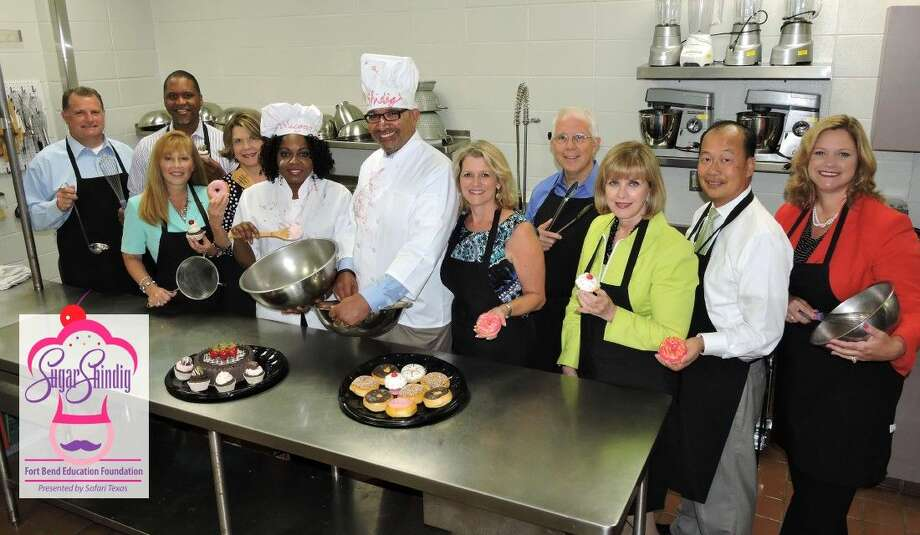 Chefs for Education! The Sugar Shindig Honorary Committee, from left, Max Cleaver, Kermit Spears, Christie Whitbeck, Phillys Hill, Honorary Co-Chairs Seeju and Charles Dupre, FBEF Executive Director Brenna Cosby, Steven Bassett, Nancy Porter, Long Pham and Beth Martinez.