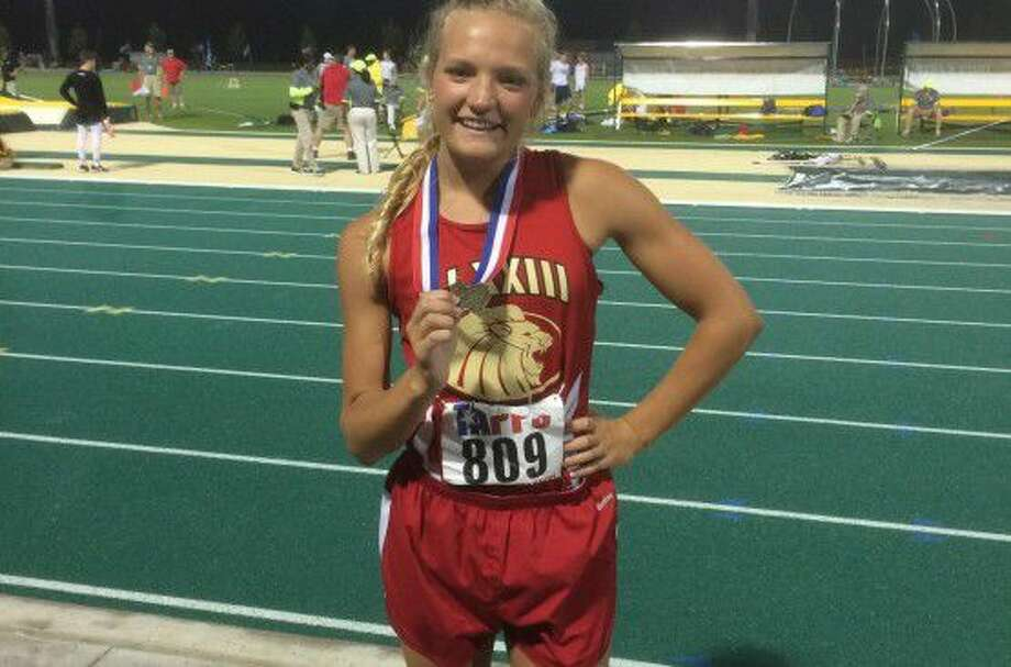 St. John XXIII senior Brittany Bowles won the TAPPS 4A state championship in the 300-meter hurdles, also winning a silver medal in the long jump May 6-7 in Waco. Bowles has signed with Baylor. Photo: St. John XXIII College Preparatory