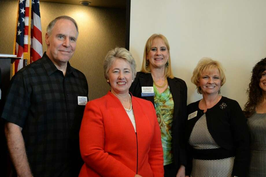 City of Houston Mayor Annise Parker was the featured guest at this month's Clear Lake Chamber of Commerce Membership Luncheon held at the Hilton on NASA Parkway. Photo: Y.C. Orozco