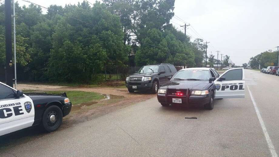 Southside Primary, Cleveland ISD Administration Building and the school district's technology department were locked down Tuesday afternoon when a fleeing suspect was being sought in the area. Photo: Submitted
