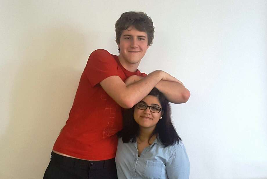 Emily Mendoza and Mark Korompay are Humble High School IB students who launched a project to fundraise for a Tower Garden to teach Humble High School students with special needs about growing, cooking and selling produce.