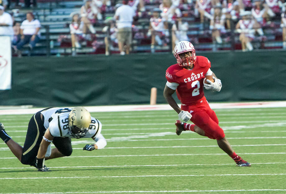 Crosby's D'onta Allen is third in the area in rushing with 545 yards on 61 carries. Photo: Linda Sims / Texas Sports Photography