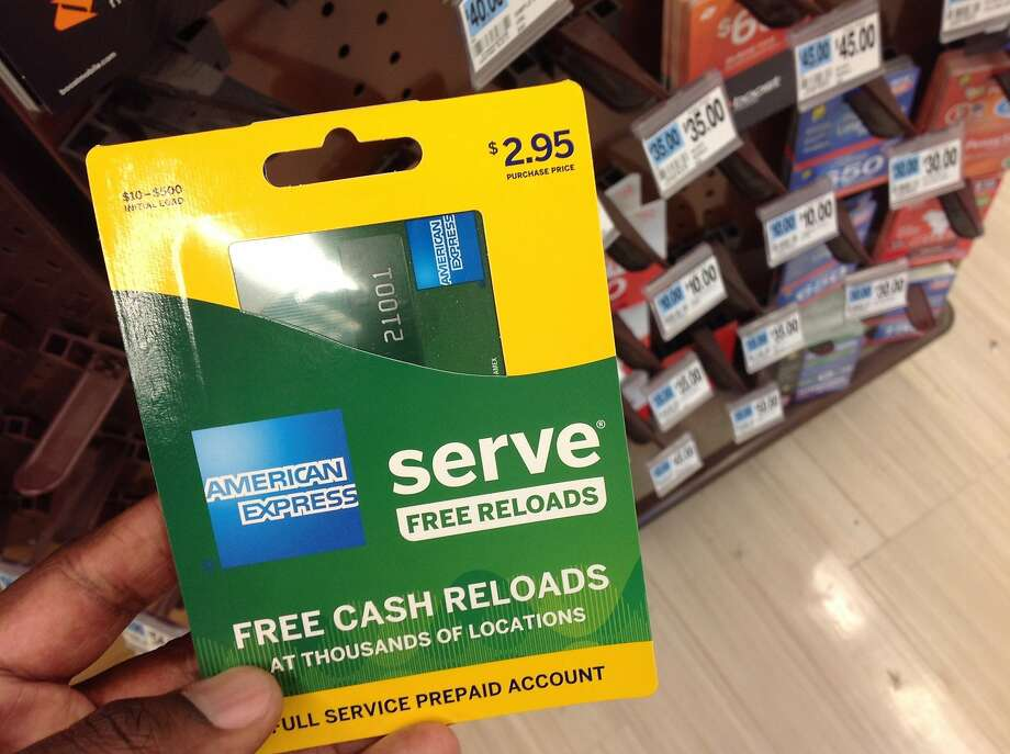 This Monday, March 7, 2016, photo, shows an American Express Serve prepaid debit card for sale at a store, in New York. Federal regulators announced new rules Wednesday, Oct. 5, 2016, governing the quickly growing prepaid debit card industry, an effort more than two years in the making, which should bring basic account protections to its customers that are often the poor and financially disadvantaged. (AP Photo/Swayne B. Hall) Photo: Swayne B. Hall, Associated Press