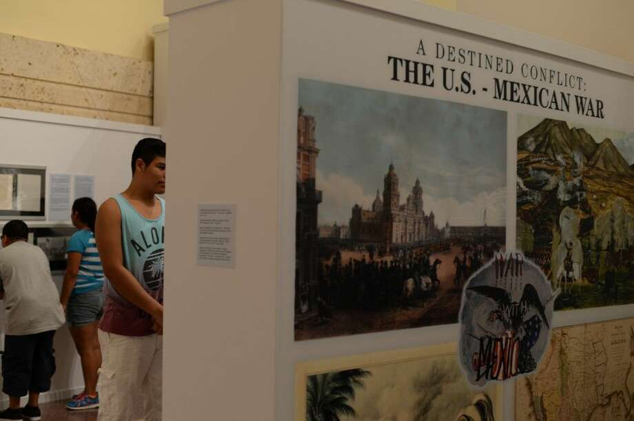 The San Jacinto Museum is currently displaying an exhibit on the U.S.-Mexican War. Admission to the exhibit is $5 for adults and $3 for children under 11.