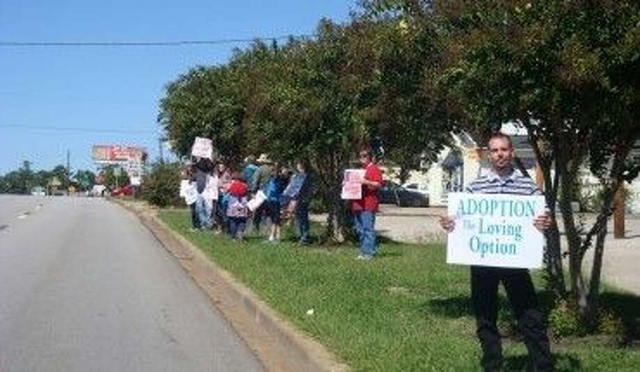Volunteers will line up along Frazier Street in Conroe Sunday to hold signs in support of life and the unborn. Volunteers are needed to participate.