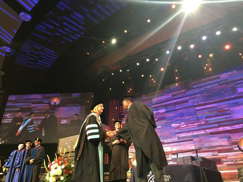 LSC-Montgomery granted 1,300 associates degrees and certificates to 375 students during the 21st commencement ceremony at the Woodlands Church. Dr. Rebecca Riley, LSC-Montgomery president, presided over the ceremony