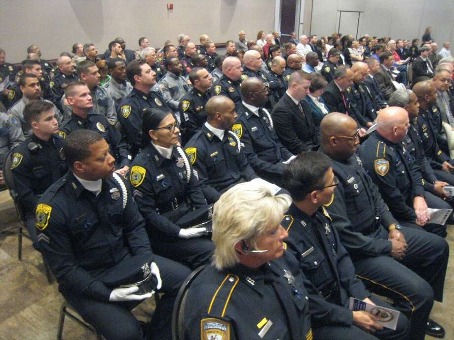 The Humble Civic Center was packed full of law enforcement officers for the North Houston Second Annual Police Memorial Ceremony Monday, May 16, 2016, where local police officers were honored for their hard work and dedication.