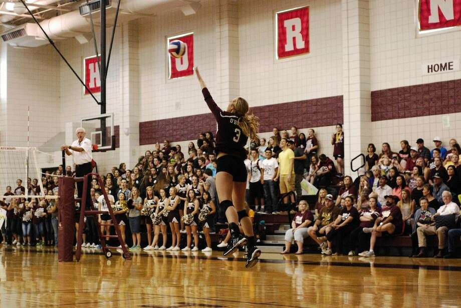 A near-capacity crowd turned out Friday, Sept. 26, for Tarkington's home game against Huffman, and whatever they paid to get in, they got more than their money's worth from both teams. The LadyHorns won, 3-1, to take the lead in District 23-4A in what will likely be one of the most intense games this season. Photo: Casey Stinnett