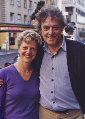 Carey Perlott and Tom Stoppard in 2012