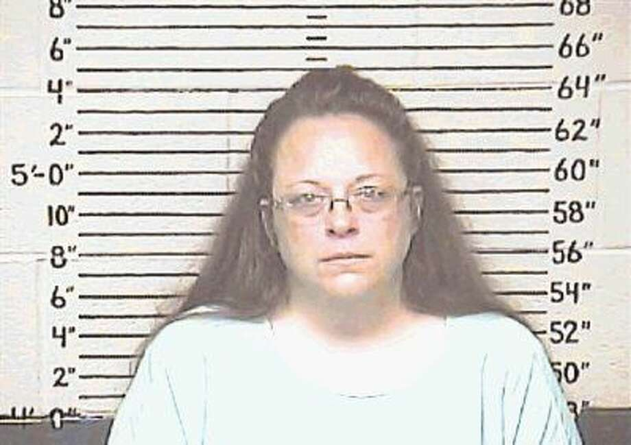 Kim Davis went to jail Thursday for refusing to issue marriage licenses to gay couples and has appealed the decision. Photo: HOGP
