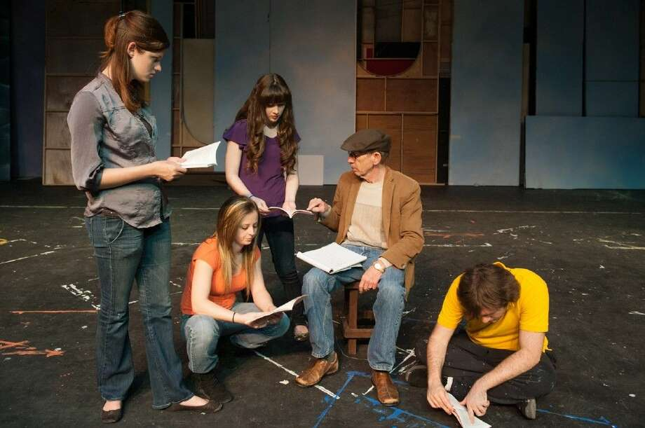 ACC Drama students prepare for a future production in this college file photo.