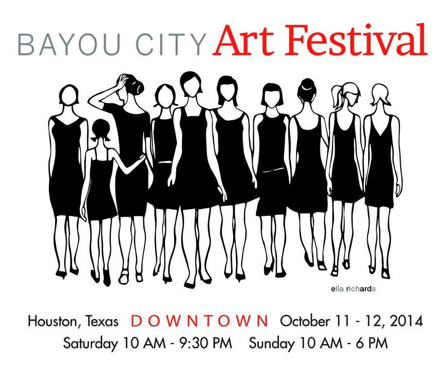 The Bayou City Art Festival Downtown is proud to announce Featured Artist, Ella Richards and unveil the official artwork created specifically for Bayou City Art Festival Downtown 2014.