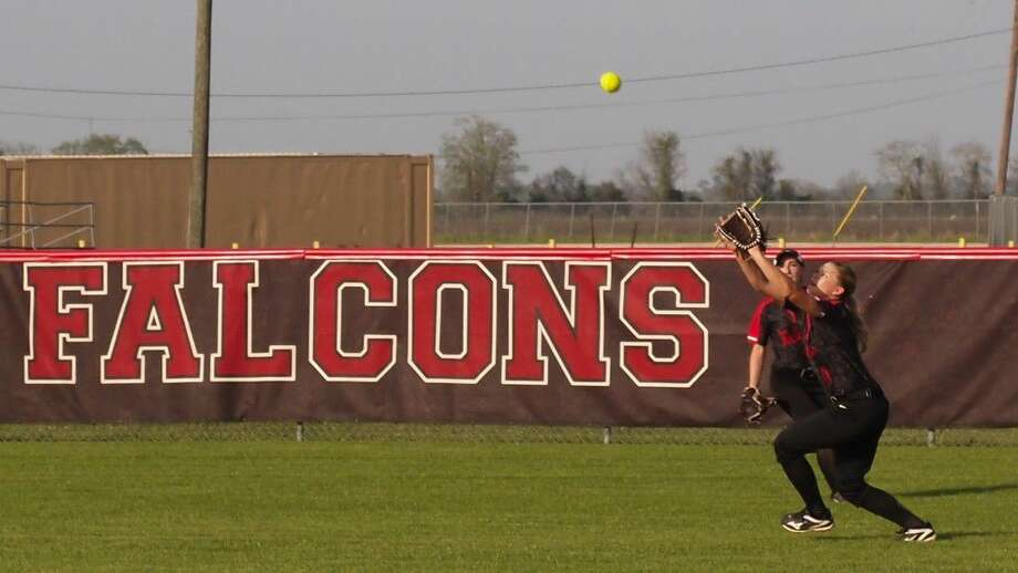 The Huffman Hargrave Lady Falcons were tied one game each with La Grange in their regional quarterfinals series on Saturday, but game three was delayed in the third inning because of weather and scheduled to resume on Monday afternoon, May 16, at Mumford. Photo: Casey Stinnett