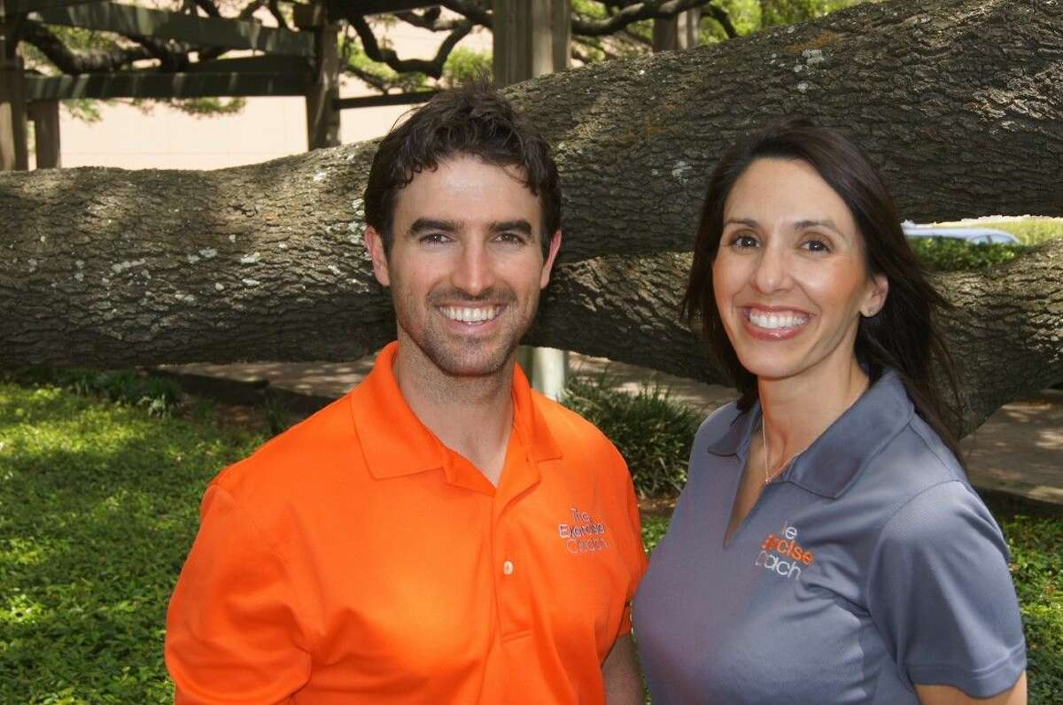 Grant English (lead coach & education specialist) and Courtney Bastien (manager) of The Exercise Coach.