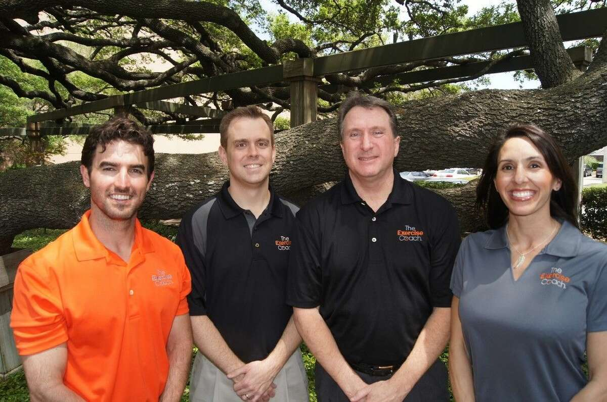 From left to right are Grant English (lead coach & education specialist), Brad Bundy (owner), David Pittmann (owner) and Courtney Bastien (manager).