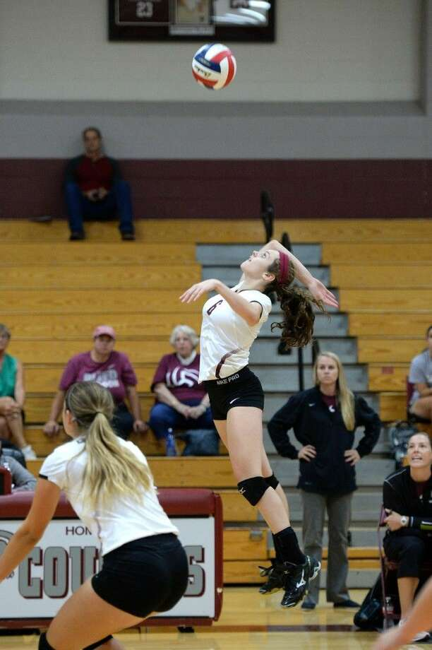 Morgan Bush (6) and Cinco Ranch won five of six matches to take third place at the Clear Creek ISD Tournament, Sept. 3-5. The Lady Cougars improved to 19-2. View this and additional photos at HCNPics.com. Photo: Craig Moseley