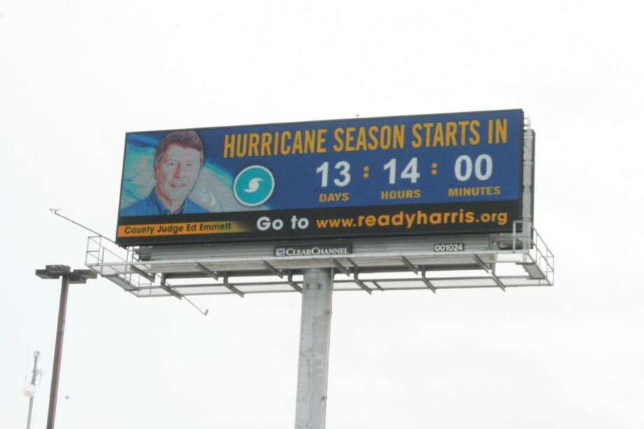 To launch the countdown until the season starts, the electronic billboard in the city of Humble was changed Wednesday, May 18, 2016, to show the countdown clock and remind residents that hurricane season is right around the corner.