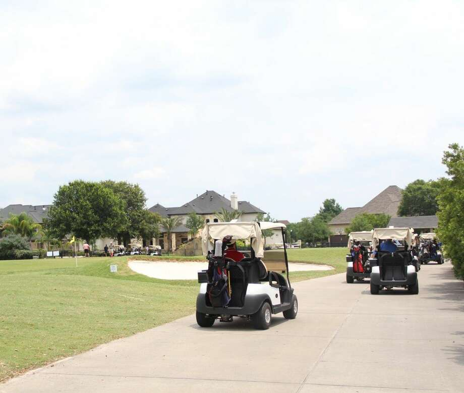 Golfers headed off to begin playing in North Cypress Medical Center's 9th Annual Spring Classic Golf Tournament on Friday, May 13, at Black Horse Ranch. Photo: Vagney Bradley