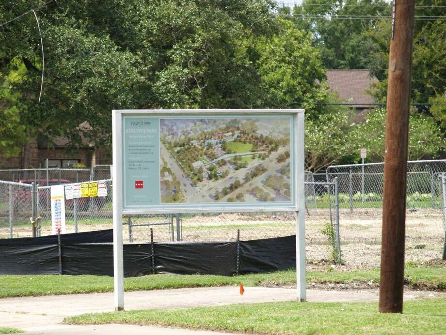 Construction on the new 5-acre Evelyn's Park has begun. The Evelyn's Park Conservancy has received a donation from Trees For Houston that will fund over 320 new trees in the park.