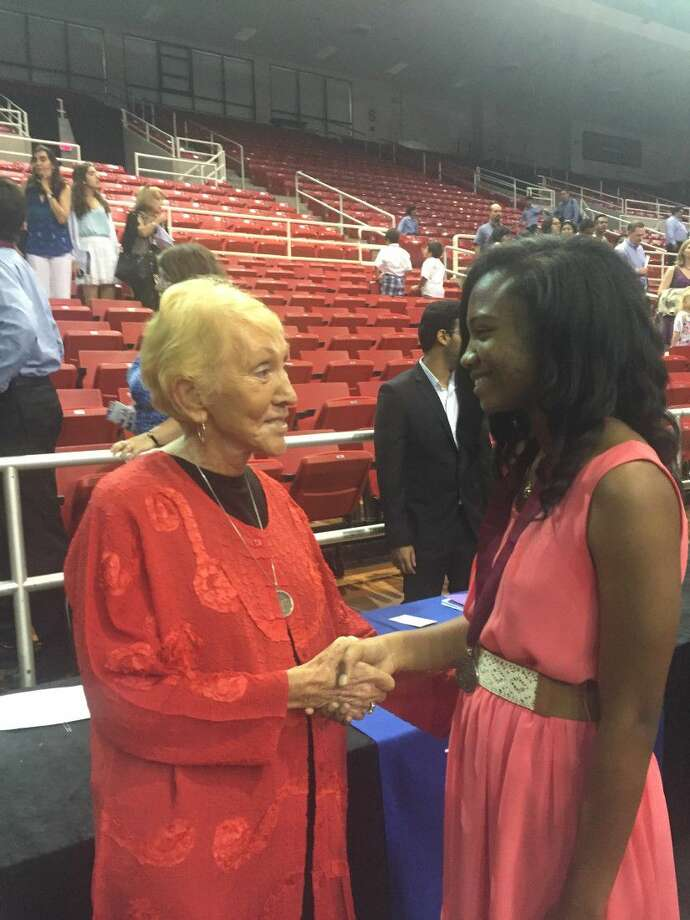 Trinity James, a seventh-grader at Schindewolf Intermediate School was recognized for her high scores on the ACT test at the Texas Recognition Ceremony held at the Montagne Center at Lamar University in Beaumont on Saturday, May 14.