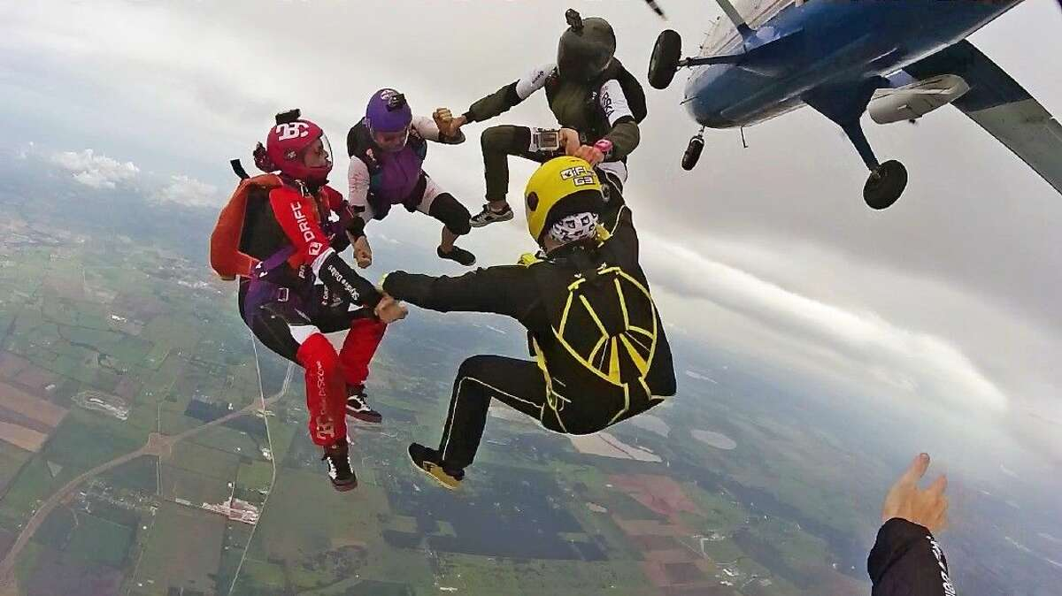 Recently, four female skydivers set a new world record for largest vertical skydiving formation performed in a head-up orientation (also known as sit-flying or feet-first flying) at Skydive Spaceland in Rosharon, just south of Houston.