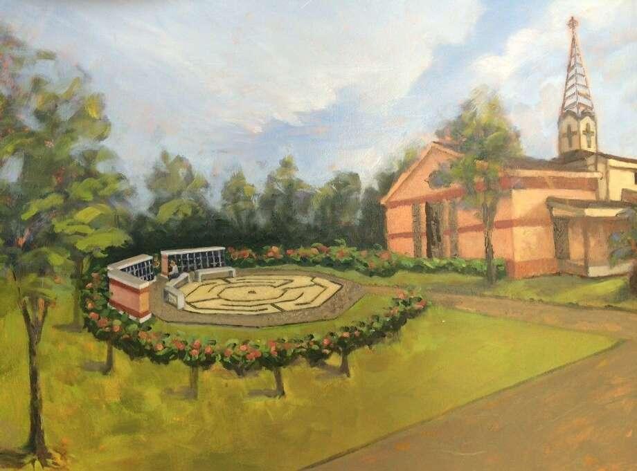 Artist rendering of the Memorial Garden.