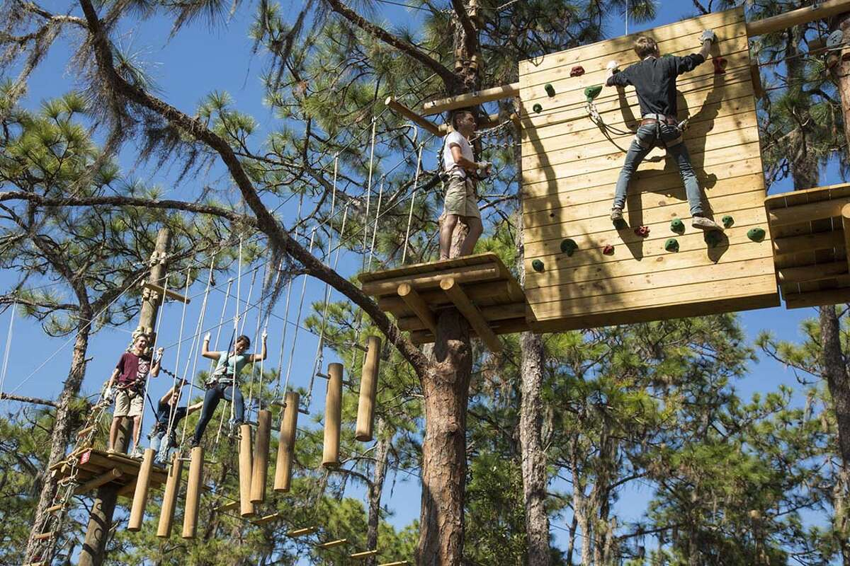Adirondack Extreme Adventure Course: An elevated adventurous obstacle course set in the Adirondack Mountains. Some of the features include giant zip lines, suspended bridges, Tarzan swings, scramble nets, swinging logs, and more. Visit the website.Also try Mountain Ridge Adventure in Glenville.
