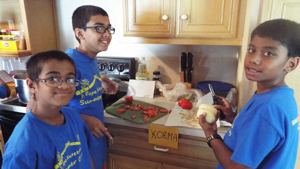 Gopa Kuteeram Campers try their hand at Culinary Arts.