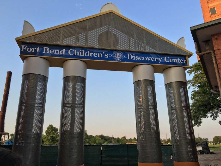 The towering structure welcoming visitors to the Fort Bend Children's Discovery Center. The sister facility of the Houston Children's Museum will provide a one of a kind fun, educational experience for families and children in Fort Bend County.