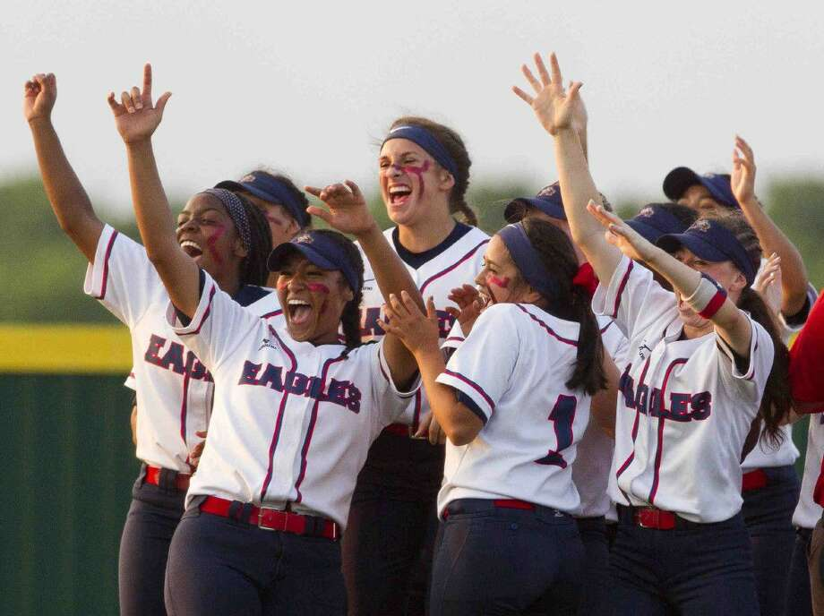 Atascocita players celebrate after defeating Belton 2-0 in Game 3 of a Region II-6A semifinal series Saturday in Mumford. Go to HCNpics.com to purchase this photo, and others like it. Photo: Jason Fochtman