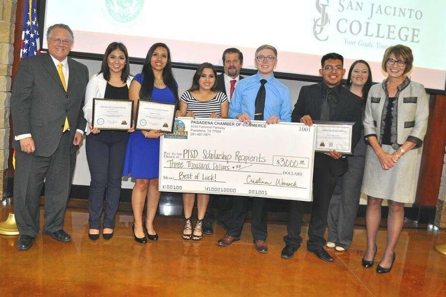 Pasadena Chamber of Commerce Scholarship recipients.