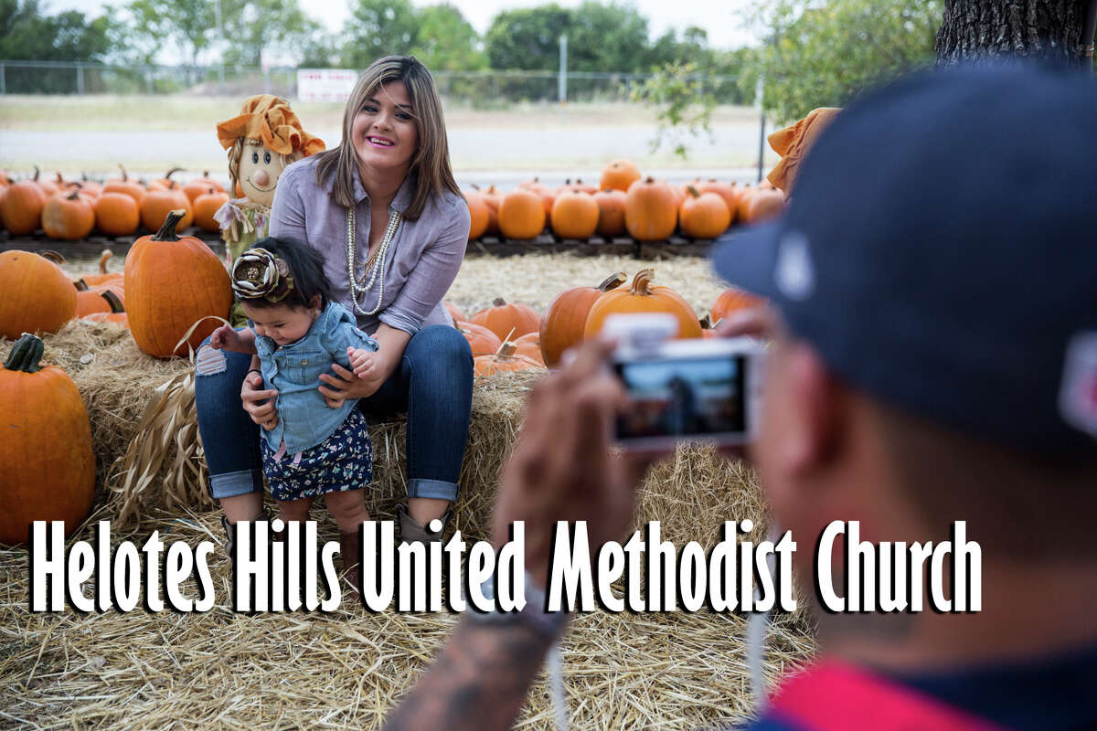 The following are pumpkin patches worth the drive outside of San Antonio.  Helotes Hills United Methodist Church: 13222 Bandera Rd., Helotes, Texas 78023. Opens Oct. 1