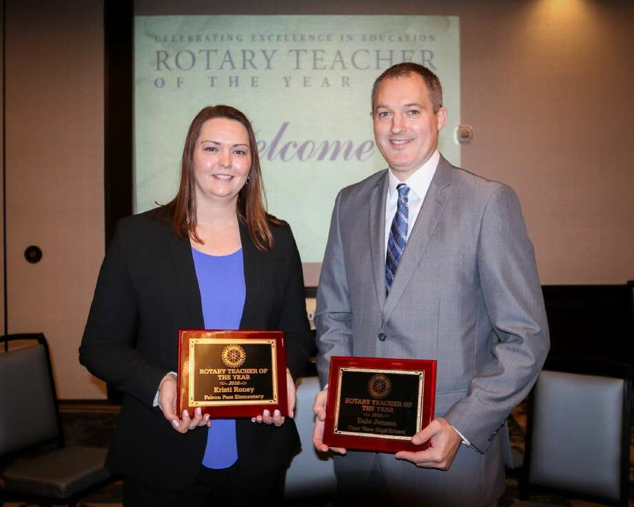 Kristi Roney and Dale Jensen. Photo: Clear Creek ISD