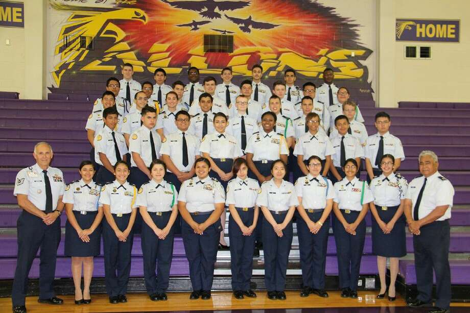 """Jersey Village High School AFJROTC Unit TX-20017 earned the """"Silver Star"""" Community Service with Excellence Award for the 2015-2016 school year."""