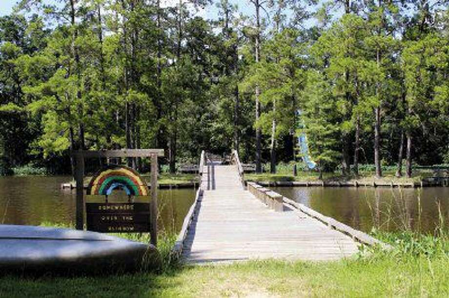 Shadow Lake is the main attraction at Girl Scouts Camp Agnes Arnold. The lake offers 35 acres of cool, refreshing fun for campers.