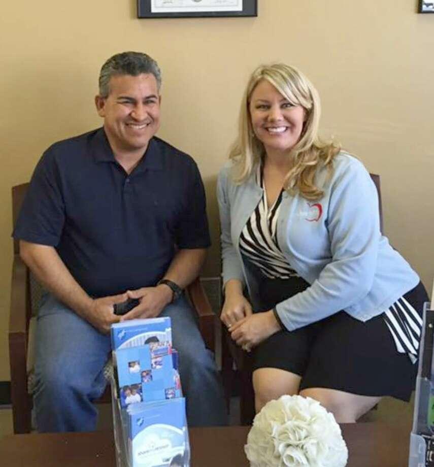 Nikki Cowart, Cy-Fair AFT president, recently welcomed CFISD Police Officer Ramon Hernandez to the Cy-Fair AFT executive council.