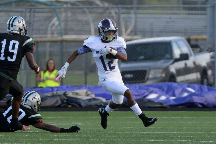 Ridge Point's Terry Petry amassed 130 receiving yards and a touchdown as the Panthers defeated Stratford 31-21 on Sept. 12. The Panthers have a bye week before their District 23-5A opener Sept. 25 against Marshall. Photo: Craig Moseley