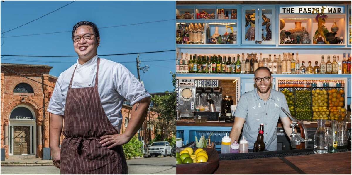 HEIGHTS Location: 544 Yale.The still unnamed restaurant in the works from Oxheart's Justin Yu (left) and Anvil'sBobby Heugel (right)will debut sometime in early 2017 where Dry Creek Cafe once stood.
