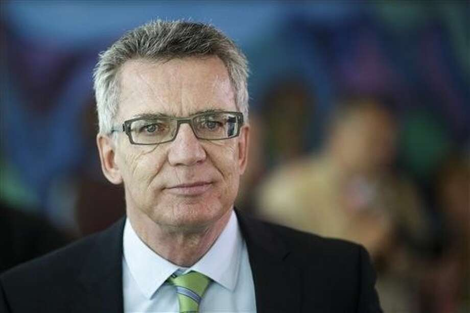 German Interior Minister Thomas de Maiziere said Sunday that Germany is introducing temporary border checks on the Austrian frontier in a bid to limit the influx of refugees. Photo: Markus Schreiber